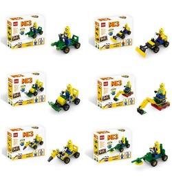 Конструктор 21003-4-5-6-7-8  (180шт) DM, фигурка, стройтехника,6 видов(40-49дет), в кор-ке,16-14-4с