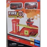 Паркинг TH626/627/628 3 вида пожарка, полиция, автомагазин в коробке 19*7*27,5см (72шт/2