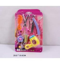 Парикмахерский набор 60115 (192шт/2)фен,ножницы,бигуди,заколки,пилочка,расческа…,на планшете 29*19с