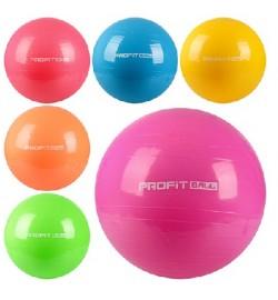 Мяч для фитнеса-65см MS 0382 (30шт) Фитбол, резина, 900г, 6 цветов, в кульке, 17-13-8см