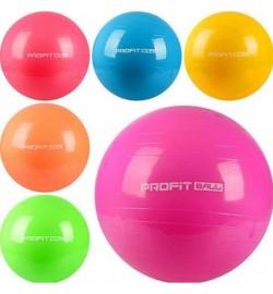 Мяч для фитнеса-75см MS 0383 (24шт) Фитбол, резина, 1100г, 6 цветов, в кульке, 19-14-10см