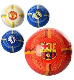 Мяч футбольный EV 3211 (30шт) размер 5, ПВХ 1,6мм, 2слоя, 32панели, 260-280г, 4 вида(клубы)