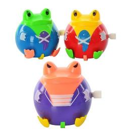 Лягушка R138-9 (864шт) заводная, 3 вида, в кульке, 6,5-7-5см