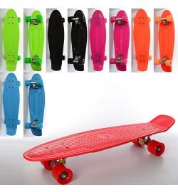 Скейт MS 0851 (6шт) пенни,66-18,5см,алюм.подвеска,колесаПУ,подшABEC-7,2цвета,макс.нагруз.60кг,разоб
