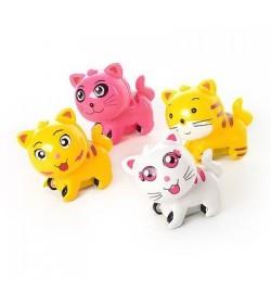 Животное A 2 (600шт) кошка, инер-я, 4 вида, в кульке, 9-9-5см