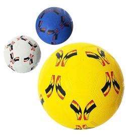 Мяч футбольный VA-0024 (30шт) размер 5, резина Grain, 350г, сетка, в кульке, 3 цвета,