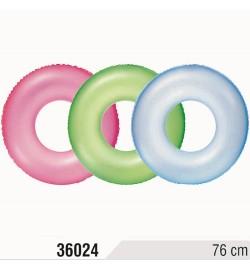 BW Круг 36024 (36шт) неоновый, 76см, от 8-ми лет, 3 цвета, рельев поверхн, в кульке, 27-14,5см