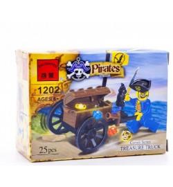 Конструктор BRICK 1202 пират 25дет.распак.кор.9,5*4,5*7 ш.к./320/