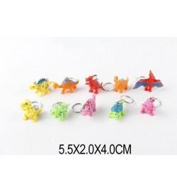 Брелок 3828 (1411997) (288шт/2) 10 видов динозавриков, в пакете 5,5*2*4 см