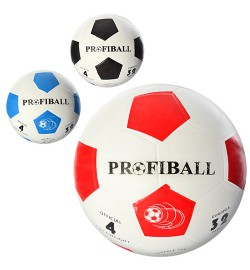 Мяч футбольный VA 0018 (30 шт) размер 4, резина, гладкий, 340 г.