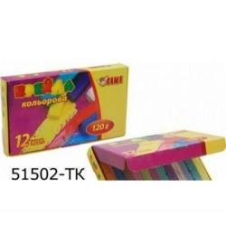 Крейда кольорова квадратна, 12кол. 120г ТІКІ 51502-TK УК