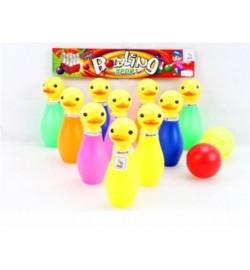 Боулинг 8040 (HWA1074215) (120шт/2) 2 шара,10 кеглей (уточки),в сумке 24*12*7 см