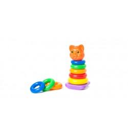 Пирамидка-качалка кошка Ф125x255 мм кол. в уп.30шт