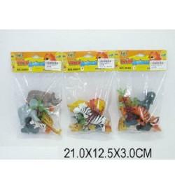Животные 666H-8 (1229661) (360шт/2) 3 вида,в пакете 21*12,5*3см