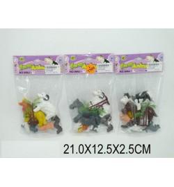 Животные 666J-8 (1229674) (360шт/2) 3 вида,в пакете 21*12,5*2,5см