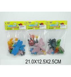 Животные 666L-8 (1229684) (360шт/2) 3 вида,в пакете 21*12,5*2,5см