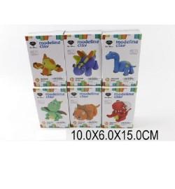 Пластилин-застывающий N7007-N7012 (1451090) (96шт/2)животные,6 видов, в кор.10*6*15см