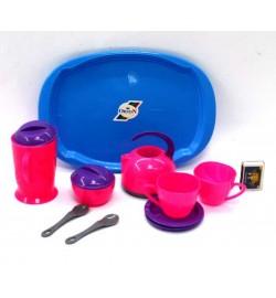 Поднос з набором посуду