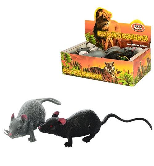 Животные 7218 (432шт) мышка,9см, антистресс, 24шт(2вида) в дисплее,  28-15-8,5см