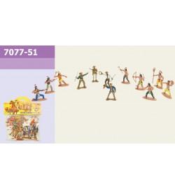 Набор индейцев 7077-51 (360шт/3) 12шт в пакете 16см