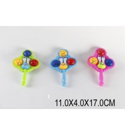 Погремушка в ручку 123 (1538893)  (576шт/2) 3 цвета, в пакете 11*4*17 см