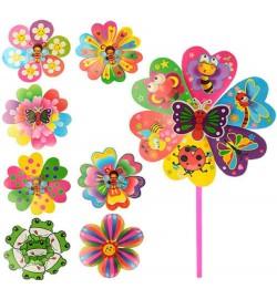 Ветрячок M 0792 (300шт) 2шт,размер средний,диам.22см,палочка30см,цветок,8видов,в кульке,22-22-2см