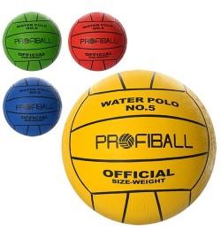 Мяч волейбольный VA 0034 (50шт) водное поло, офиц.размер, Profiball, 380-400г, 4 цвета