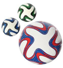 Мяч футбольный VA-0020 (30шт) размер 5, резина Grain, 350г, сетка, в кульке, 3 цвета