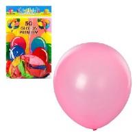 Шарики надувные MK 0014 (100шт) 12 дюймов, яркий, микс цветов, 50шт в кульке, 18,5-28-1см