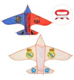 Воздушный змей M 2978 (100шт) ширина133см,длина80см,струна30м,2вида,в кульке,9-90-1см