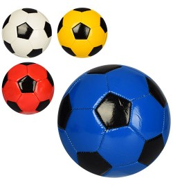 Мяч футбольный EN 3228 (40шт) размер 2, мини, ПВХ 1,6мм, неон, г, 4 цвета, в кульке