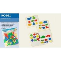 Логика-шнуровка HC-061 (1335273) (60шт) животные+шнурки,  в пакете 36*30 см