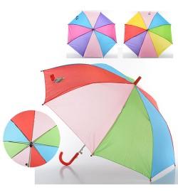 Зонтик детский MK 0356 (60шт) длина54,5см,трость68см,диам.84см,спица49см,ткань,3цвета