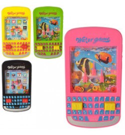 Телефон EN711-722 (180шт) муз,звук,свет,2вида(лягушка,обезьянка),на бат-ке,в кульке,14-14-3,5см