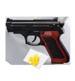 Пистолет ES869-M809PB (360шт) на пульках, в кульке, 12-8,5-2,5см