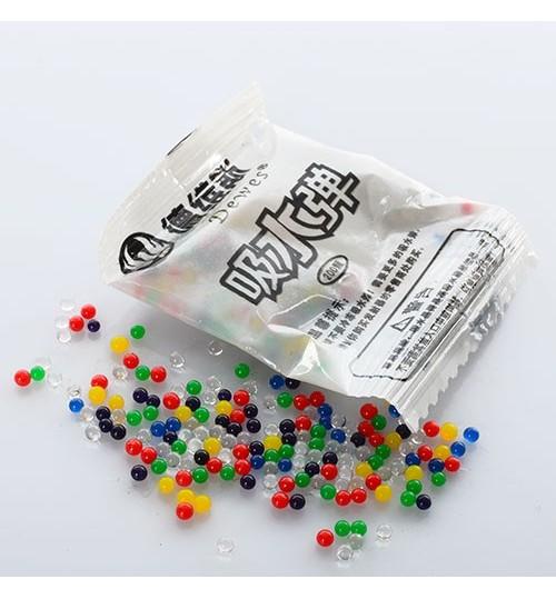 Водяные пульки E12614 (10000шт) 200шт в кульке, 5,5-4см, цена за 100шт
