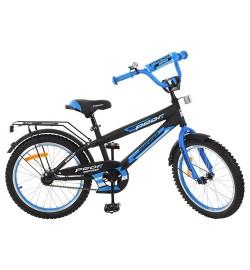 Велосипед детский PROF1 20д. G2053 (1шт) Inspirer,черно-синий(мат),звонок,подножка