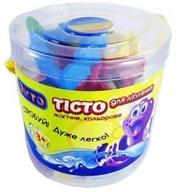 Набір для ліплення ОКТО 10 кольорів+формочки (в ПВХ тубусі)
