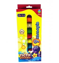 Набір для ліплення ОКТО Асорті 9 кольорів тесто