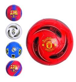 Мяч футбольный EV 3162 (30шт) размер 5, ПВХ 1,6мм, 2слоя, 32панели, 300-320г, 5видов(клубы)
