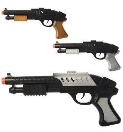 Пистолет 5015-5-6-7 (432шт) 27см, 3 вида, в кульке, 30-15-3см
