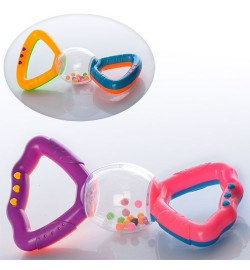 Погремушка 880 (360шт) 2 цвета, в кульке, 14,5-7-3,5см