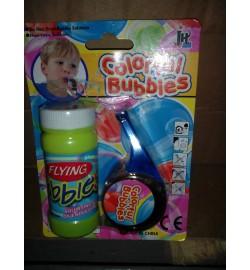 Мыльные пузыри 322 (192шт) свисток для выдувания, запаска, 2 цвета, на листе, 11-15,5-3,5см