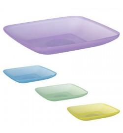 Тарелка квадратная пластиковая 19*19см PT-83306 (130шт)