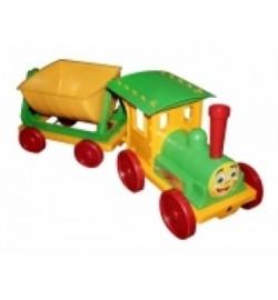 Поезд-конструктор 1 прицеп 013115 салатовий