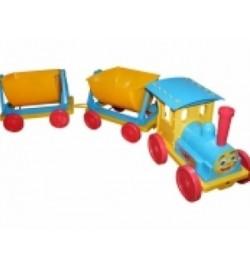 Поезд-конструктор з пісочним набором №1 голубий, арт 013222