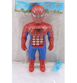 Моб.телефон 3701 (640шт/2)батар., Человек-паук,в пакете 17*8*3см