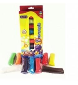 Набір для ліплення ОКТО Асорті 9 кольорів з блискітками тесто