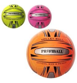 Мяч волейбольный 1101ABC (30шт) офиц.размер,ПУ,2слоя,18панелей,250-270г,3 цвета,