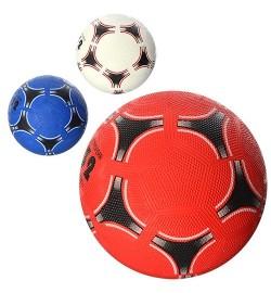 Мяч футбольный VA 0025 (30шт) размер 5, резина Grain, 350г, сетка, в кульке, 3 цвета